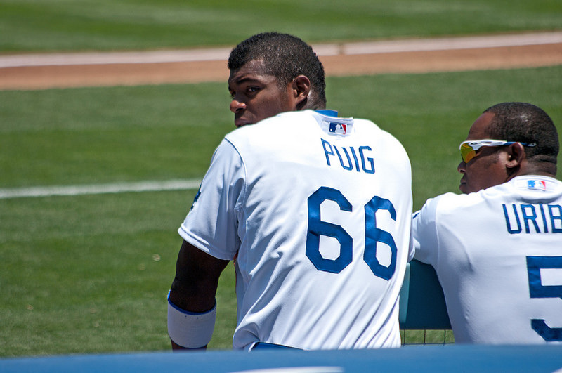 Dodgers Outfielder, Yasiel Puig