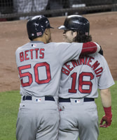 Mookie Betts and Andrew Benintendi, Red Sox Outfielders